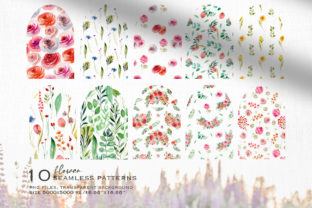Wild Flowers Watercolor Collection Graphic Illustrations By HappyWatercolorShop 11