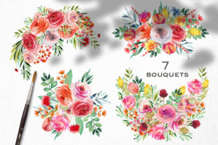Wild Flowers Watercolor Collection Graphic Illustrations By HappyWatercolorShop 3