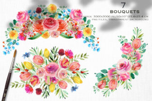 Wild Flowers Watercolor Collection Graphic Illustrations By HappyWatercolorShop 4