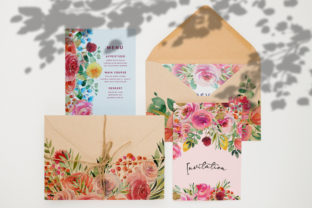 Wild Flowers Watercolor Collection Graphic Illustrations By HappyWatercolorShop 5
