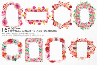 Wild Flowers Watercolor Collection Graphic Illustrations By HappyWatercolorShop 7