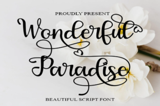 Print on Demand: Wonderful Paradise Script & Handwritten Font By Supersemar Letter