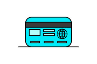 Flat Icon of Resident Card Graphic Illustrations By sijadesain