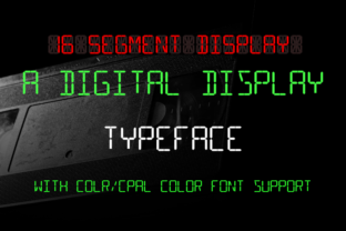 Print on Demand: 16 Segment Display Color Fonts Font By thorchristopherarisland