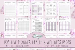 Print on Demand: 2021 Positive Planner Health & Wellness Graphic Print Templates By CapeAirForce