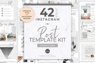 42 Instagram Post Templates | Canva Graphic Graphic Templates By Thirty One Palms Studio