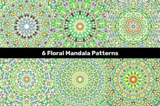 6 Circular Floral Mandala Patterns Graphic Patterns By davidzydd