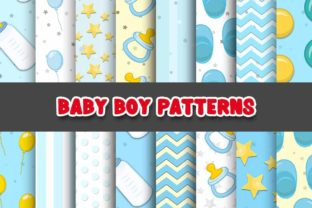 Print on Demand: Baby Boy Digital Paper Patterns Graphic Patterns By Grafixeo
