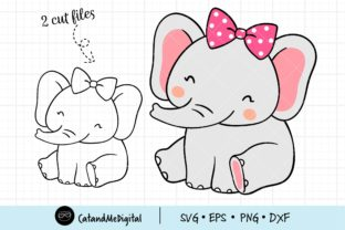 Baby Elephant Birthday Svg Graphic Illustrations By CatAndMe