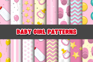 Print on Demand: Baby Girl Patterns Digital Papers Graphic Patterns By Grafixeo