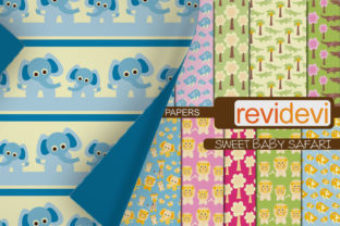 Print on Demand: Baby Animals Papers Graphic Backgrounds By Revidevi
