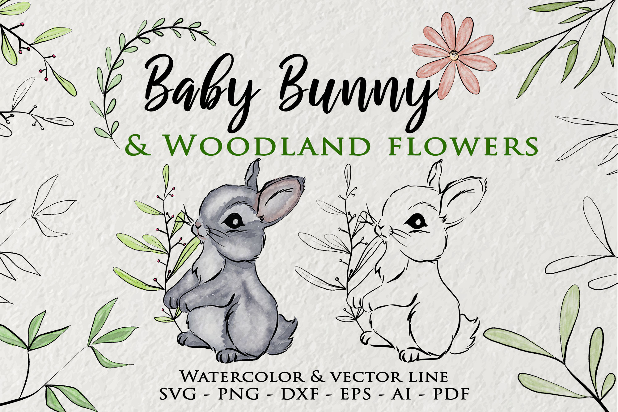 Baby Bunny, Easter Bunny Clipart SVG File