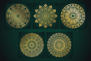 Beautiful Golden Mandala Design Graphic Coloring Pages & Books Adults By srshohan30