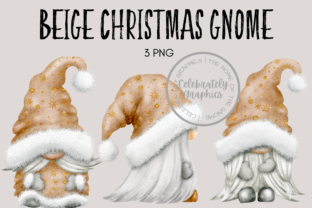 Beige Christmas Gnome Graphic Illustrations By Celebrately Graphics