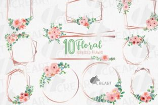 Print on Demand: Blush Floral & Eucalyptus Frames Clipart Graphic Print Templates By CreartGraphics