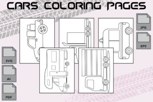 Cars Coloring Pages VOL 5 | KDP Graphic Coloring Pages & Books Kids By Kdp Speed