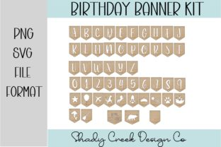 Celebration Banner Kit Graphic 3D SVG By Shady Creek Design Company