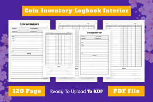 Coin Inventory Log Book KDP Interior Graphic KDP Interiors By Effectmaster
