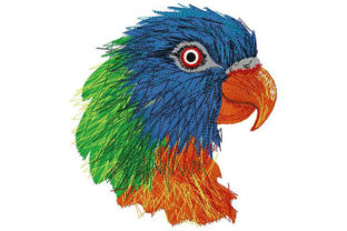 Colorful Exotic Parrot Birds Embroidery Design By Dizzy Embroidery Designs