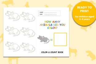 Coloring & Counting Book Animal Mouse Graphic Teaching Materials By 57creative