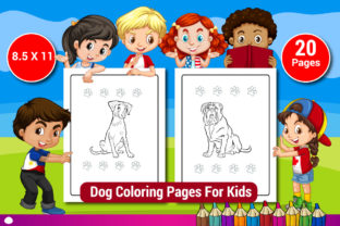 Dog Coloring Activity Pages for Kids Graphic Coloring Pages & Books Kids By Sharif54