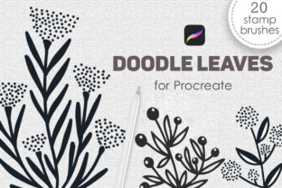 Print on Demand: Doodle Leaves Procreate Stamp Brushes Graphic Brushes By SassyDesign