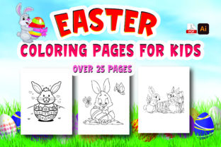 Easter Coloring Book for Kids Graphic Coloring Pages & Books Kids By Moonz Coloring