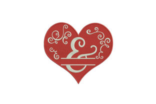 Enamoring Red Heart Design Valentine's Day Embroidery Design By DigitEMB