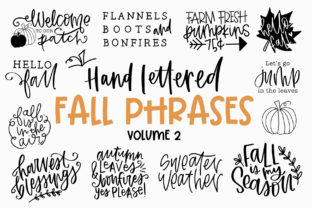 Print on Demand: Fall Phrases Dingbats Font By dansiedesign