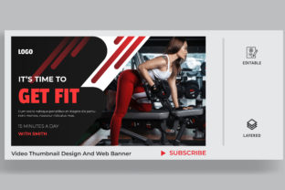Fitness Thumbnail Design for Any Videos. Graphic Websites By sohagmiah_0