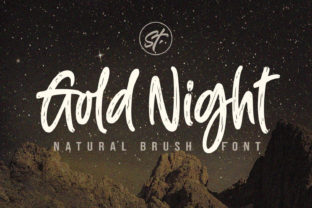 Print on Demand: Gold Night Display Font By Subectype