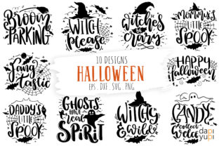 Print on Demand: Halloween Quotes Bundle  Graphic Crafts By dapiyupi