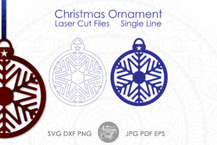 Print on Demand: Laser Cut Christmas Ornaments, Vector Graphic 3D SVG By Artisan Craft SVG