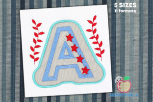 Letter a Double Applique Backgrounds Embroidery Design By embroiderydesigns101