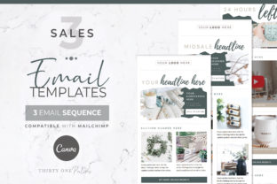 Mailchimp & Canva Template   3 Pack Graphic Graphic Templates By Thirty One Palms Studio