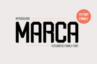 Print on Demand: Marca Display Font By arimatype