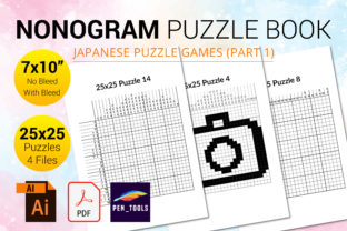 Print on Demand: Nonogram Puzzle Book (Hanjie, Picross) 2 Graphic KDP Interiors By PEN_TOOLS