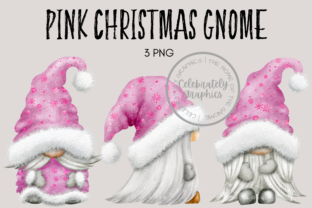 Pink Christmas Gnomes Graphic Illustrations By Celebrately Graphics
