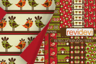 Print on Demand: Retro Garden Scrapbook Papers Graphic Backgrounds By Revidevi
