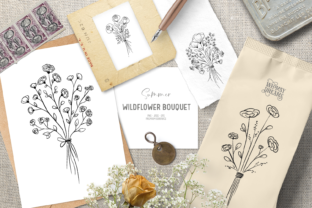 Print on Demand: Romantic Flower Digital Stamps Graphic Illustrations By Wallifyer