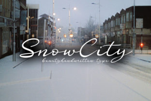 Print on Demand: Snow City Script & Handwritten Font By muhawk47