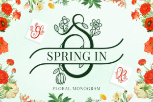 Print on Demand: Spring in Monogram Decorative Font By airotype