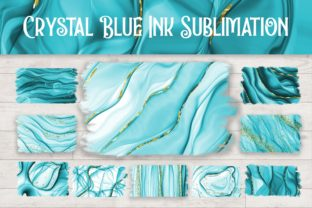 Print on Demand: Sublimation Crystal Blue Ink Background Graphic Backgrounds By PinkPearly