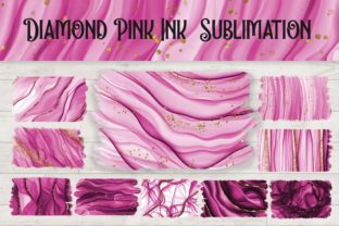 Print on Demand: Sublimation Diamond Pink Ink Background Graphic Backgrounds By PinkPearly