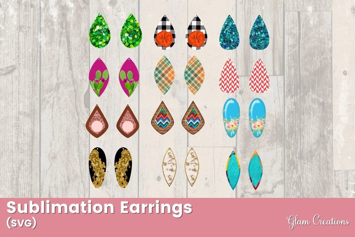 Sublimation Earrings SVG File