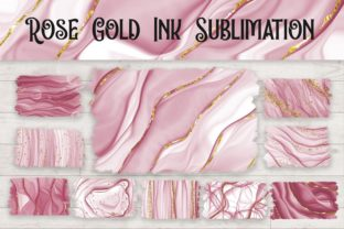Print on Demand: Sublimation Rose Gold Ink Background Grafik Hintegründe von PinkPearly