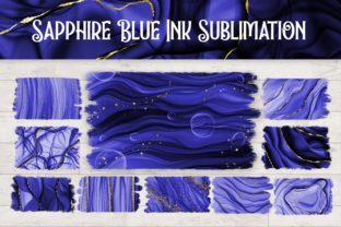 Print on Demand: Sublimation Sapphire Blue Ink Background Graphic Backgrounds By PinkPearly