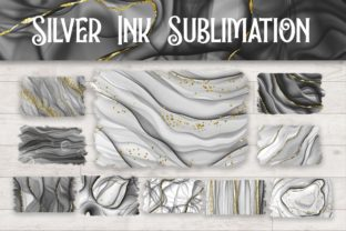 Print on Demand: Sublimation Silver Ink Glitter Graphic Backgrounds By PinkPearly