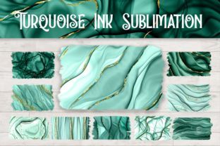 Print on Demand: Sublimation Turquoise Ink Background Graphic Backgrounds By PinkPearly