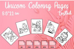 Unicorn Coloring Pages VOL 4   KDP Graphic Coloring Pages & Books Kids By Kdp Speed